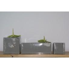 Kiki Cube Vase Grey (large) Bob Design