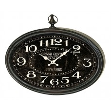 Grand Central Station Wall Clock Black