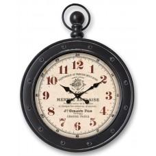 Wall Clock black Grasse Paris