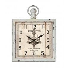 Wall Clock Antiquites white