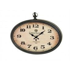 Wall Clock Cabernet Sauvignon zwart metaal