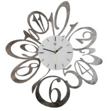 Rosia silver marbled Wall Clock Tav Design woonaccessoires